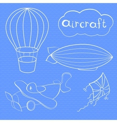 Aircrafts set vector