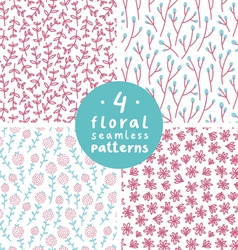 Floral patterns set 2 vector image