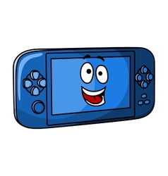 Blue game console vector