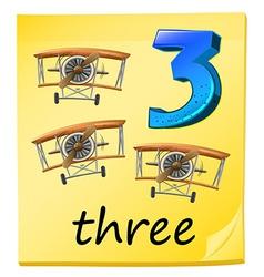 Three planes vector image