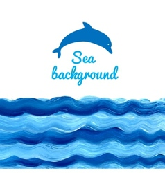 Acrylic sea background vector