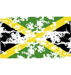 Flag of jamaica with old texture vector