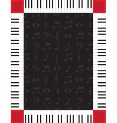 piano border vector image