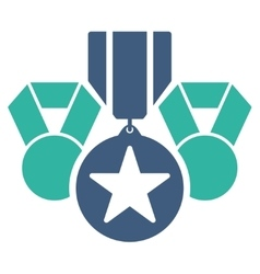 Awards icon from competition  success bicolor vector