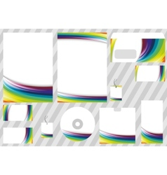 Corporate rainbow design elements - templates vector