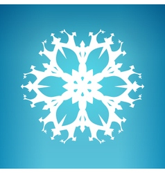 White snowflake merry christmas vector
