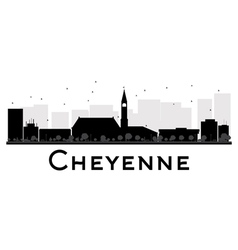 Cheyenne silhouette vector image