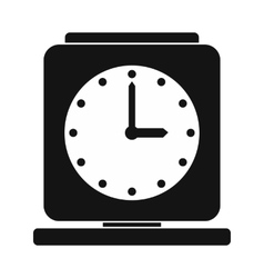 Vintage alarm clock simple icon vector