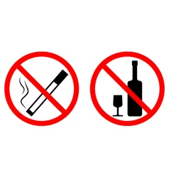No smoke no alcohol vector