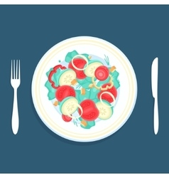 Salad in a plate vector