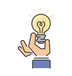 Light lamp sign idea icon concept vector image