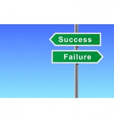 arrows sign of success failure vector image vector image