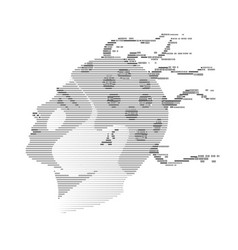 Brain helmet vector