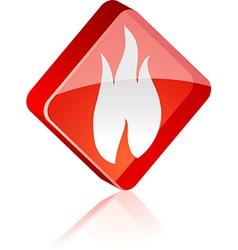 Fire button vector image vector image