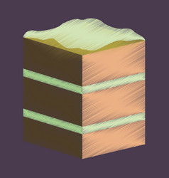 flat shading style icon piece of cake vector image