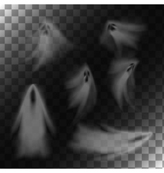Ghosts on transparent background vector