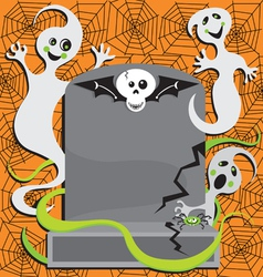 halloween ghost invitation vector image