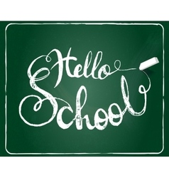 Hello school background vector