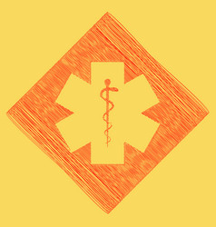medical symbol of the emergency or star of life vector image vector image