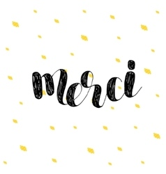 Merci thank you in french vector