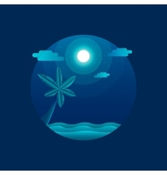 Moonlight beach vector