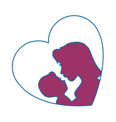 Mother holding baby icon vector