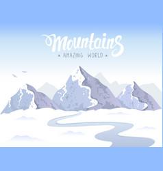 Mountain epic vector