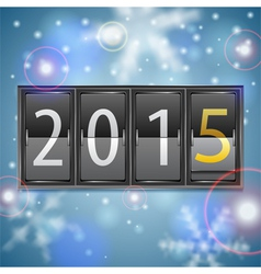 New year 2015 on mechanical timetable vector