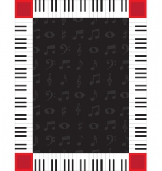 piano border vector image vector image