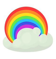 Rainbow icon cartoon style vector
