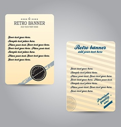 retro bannner vector image