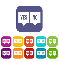 Signs of yes and no icons set vector