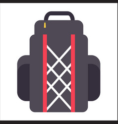 tourist backpack or hike bags knapsacks icon vector image