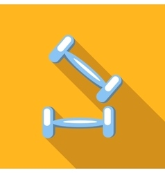 Two dumbbells flat icon vector