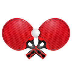 Two professional racket for table tennis vector