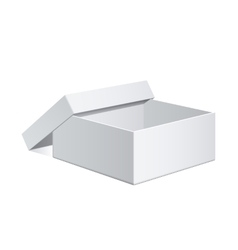 White Package Cardboard Box vector image vector image