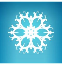 White Snowflake Merry Christmas vector image vector image