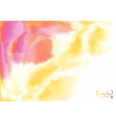 Red and yellow watercolor flow abstract background vector image