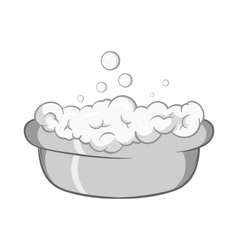 Bath for baby icon black monochrome style vector