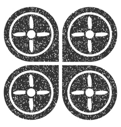 Quadrocopter grainy texture icon vector