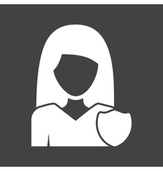 Woman security vector