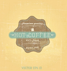 retro cofee label vector image