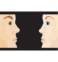 man and woman profile vector image