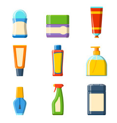bath plastic bottle shampoo container shower flat vector image