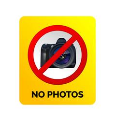 No photos sign vector