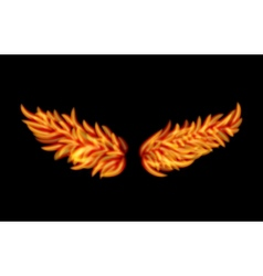 Flame wings vector
