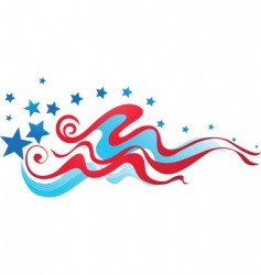 Usa flag background vector