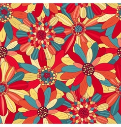 Beautiful bright flowers 3 vector image
