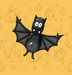 226 black cartoon bat vector