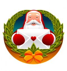 Santa Claus and letter vector image